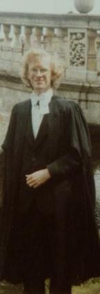 A picture of Andrew Wiles in his college graduation dress robes.